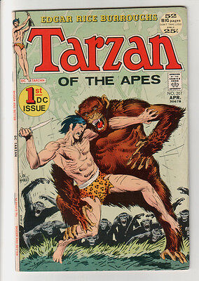 TARZAN Of The Apes 1st DC Issue #207 KUBERT (Apr 1972) VG+ CONDITION Comic Book