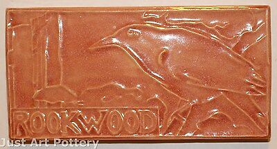 Rookwood Pottery 1997 Rook Advertising Tile