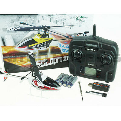 Nine Eagles Solo Pro 270A FP Helicopter Red / White RTF w/ 2.4GHz SLT Radio
