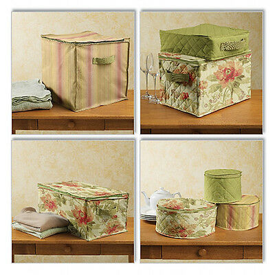 SEWING PATTERN Butterick B5623 Decorative DINNERWARE HOME STORAGE CUBES BOXES