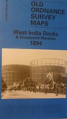 Old Ordnance Survey Map  West India Docks & Greenwich Marshes 1894 Sheet 79 New