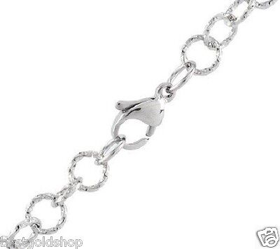 """QVC Steel by Design 36""""  Long  Round Twisted Sparkle Rolo Chain Necklace"""