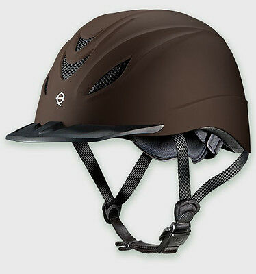 Troxel Intrepid Brown Duratec Western Riding Low Profile Safety Horse Helmet
