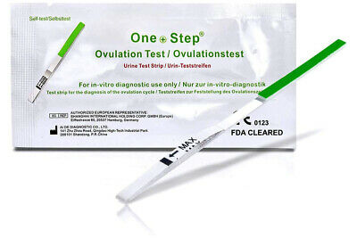 10 Ovulation Tests Ultra Sensitive LH Fertility Urine Strip Tests Kits ONE STEP