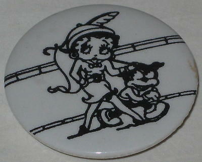 "Betty Boop College Game Day Pin 1.75"" - Has Spots"