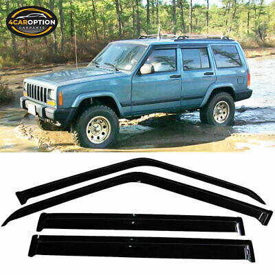 For 84-01 Cherokee Acrylic Window Visors 4Pc Set