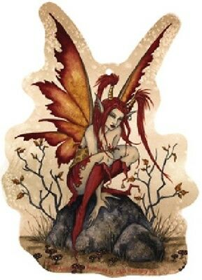 Amy Brown Little Red Mischief Fairy Art Image Air Freshener NEW UNUSED SEALED