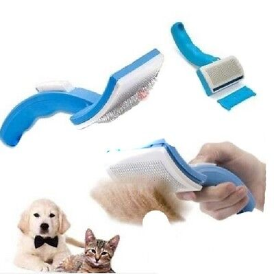 HOT! Grooming Self Cleaning Brush + Pet Trimmer Attachment For Pet Dog & Cat-LD