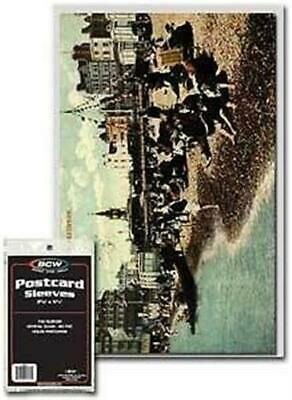 Pack of 100 BCW Acid Free Archival 2 mil Postcard Poly Sleeves - 3 11/16 x 5 3/4