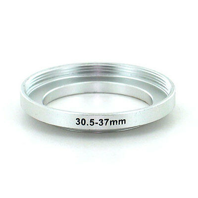 Filter Step Up Ring Adapter for 30.5mm to 37mm Silver for Camera, from US Seller