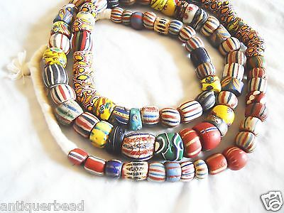 Venetian Old Antique Vintage Mix Fancy Beads - Africa Trade Beads- Ghana Beads