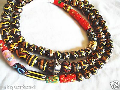 Venetian Old Antique Vintage Mix Fancy Gold Beads - Africa Trade Beads