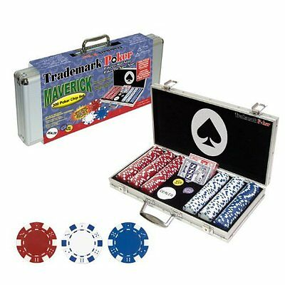 Professional Set Kit of 300 Poker texas Hold'em Chips New Fast Shipping