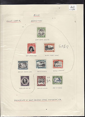 Niue : Definitive Issue 1944 - 46 Values To Three Shillings  : Mint Hinged    F