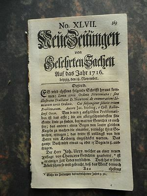 1716 Zeitung Paul Jacob Marperger
