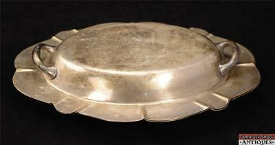 T&T 2890 Silver Plate Oval Serving Warming Vegetable Dish With Handled Lid EPNS