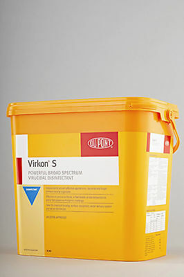 Dupont Virkon S Kennel Disinfectant 1 x 10KG Good Till April 2017 DEFRA APPROVED