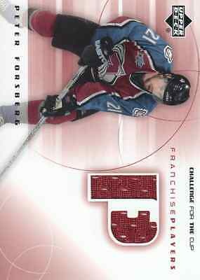 2001-02 UD Challenge for the Cup Jersey #FP-PF Peter Forsberg Colorado Avalanche