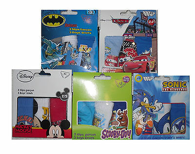 Boys Pants Briefs 3 Pack Boxed Set Mixed Characters