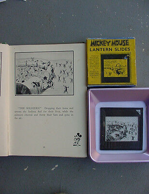Disney VINTAGE  GLASS SLIDE LATE 20'S - 30'S MICKEY MOUSE --- TEST SHIPMENT -