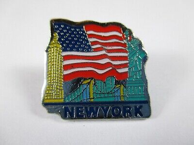 New York Metall Pin,Freiheitsstatue,Empire,Brooklyn Bridge Souvenir USA