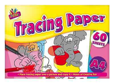 Tracing Paper A4 Size Sheets Pad Creative Picture Trace Learning Kid Craft Fun