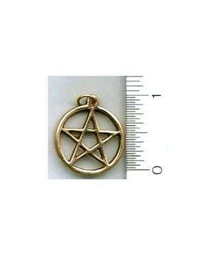 "Brass Pentacle Pendant - 15/16"" diameter"