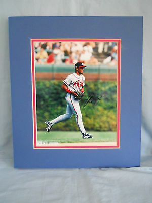 Atlanta Braves 8x10 Double Matted Andruw Jones Autographed Photo/Red & Blue