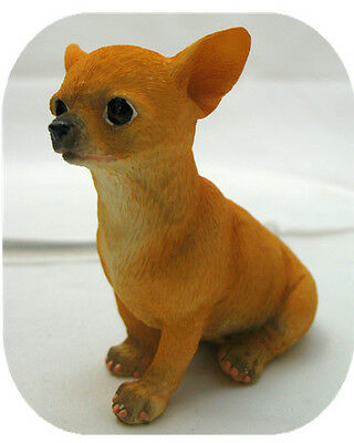 Chihuahua Tan Dog Puppy Figurine.Lifelike Statue.Little Pup Puppy Figure