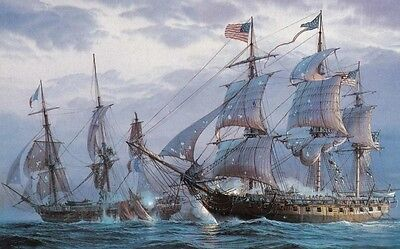 Canvas Print Ship Naval battle Oil painting Art Picture Printed on canvas
