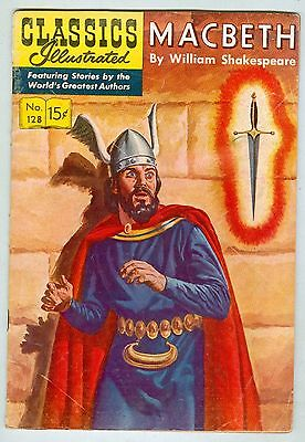 Classics Illustrated #128 September 1955 VG Macbeth 1st print