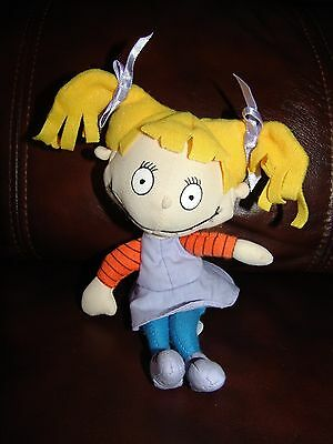 Applause Nickelodeon Rugrats Angelica Plush Beanie Doll 7""