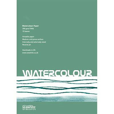 Seawhite Artists WaterColour Paper Pad A4 350gsm.15 sheets.