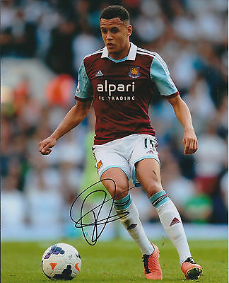 Ravel MORRISON SIGNED Autograph 10x8 Photo AFTAL West Ham United Authentic