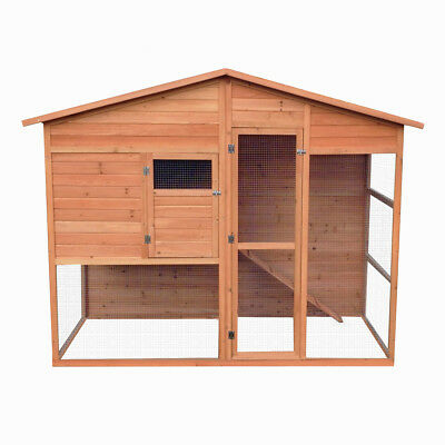 Extra Large Walk In Chicken Coop With Run Hen Animal House Hutch Poultry And Pet