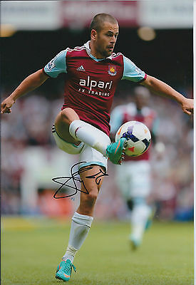 Joe COLE SIGNED COA Autograph 12x8 Photo AFTAL West Ham United England GENUINE