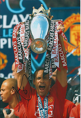 Rio FERDINAND Signed Autograph  Photo AFTAL COA Man Utd Premier League WINNER
