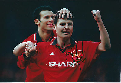 Denis IRWIN Signed Autograph  Photo AFTAL COA Man Utd Premier League WINNER RARE