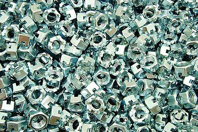 (150) Slotted Hex Castle Nuts 1/2-13 Thread Zinc Plated