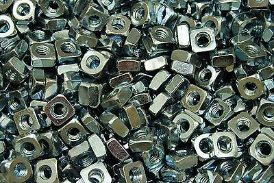(350) Zinc Plated 5/16-18 Square Nut - Coarse Thread