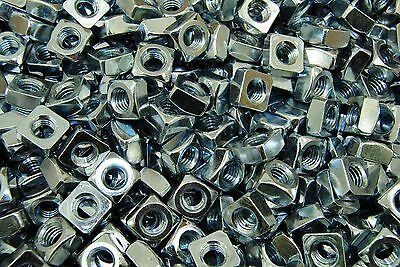 (300) Zinc Plated 3/8-16 Square Nut - Coarse Thread