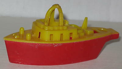 1950/'s Toy Plastic Boat Ship Whistle Old Store Stock