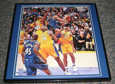 Tracy McGrady Magic vs Lakers Shaquille O'Neal & Fox Framed 12X12 Poster Photo