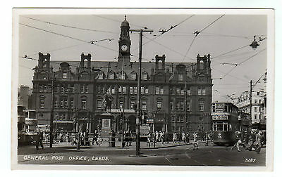 General Post Office - Leeds Real Photo Postcard c1950