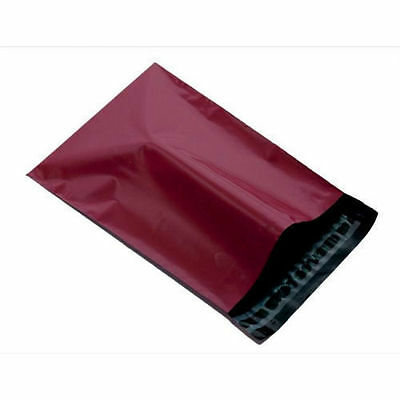 "50 BURGUNDY Mailing Poly Postage Parcel Post Bags 12"" x 16"" Self Seal 305x406mm"
