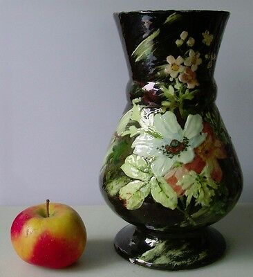 E. GILLE FRENCH IMPRESSIONISM BARBOTINE MONTIGNY SUR LOING STYLE VASE 1850 -1899
