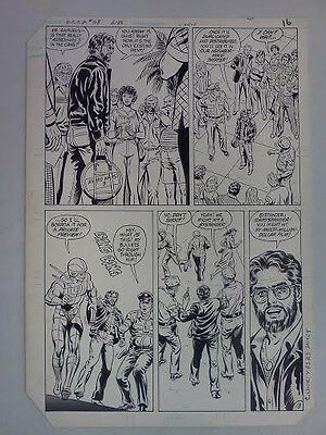 Dc Comics Presents 58 1983 Curt Swan Original Comic Book Art Page 16 Dave Hunt
