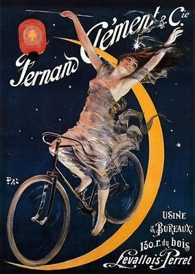 "VINTAGE Bicycle Advertising Poster CANVAS ART PRINT 8"" X 12"""