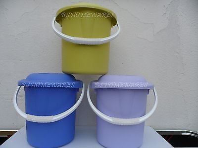 Plastic Bucket 13L Nappy Bucket/pail With Lid Storage Container Cloth Nappy Bin~