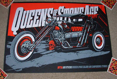 QUEENS OF THE STONE AGE concert gig tour poster 8-5-13 STURGIS 2013 ken taylor